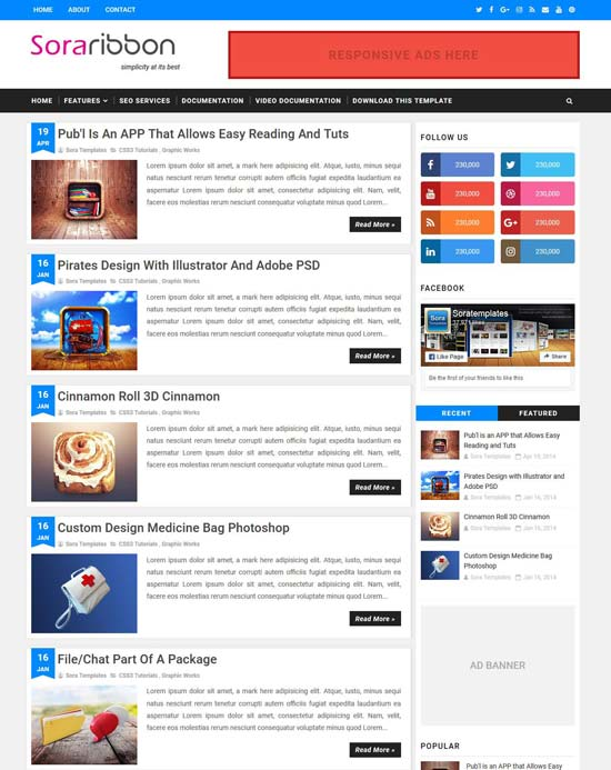 Template for blogger free