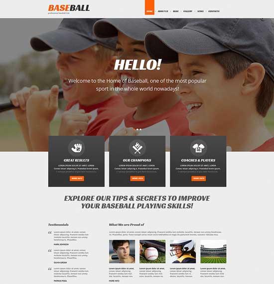 Baseball Responsive Sport WordPress Theme