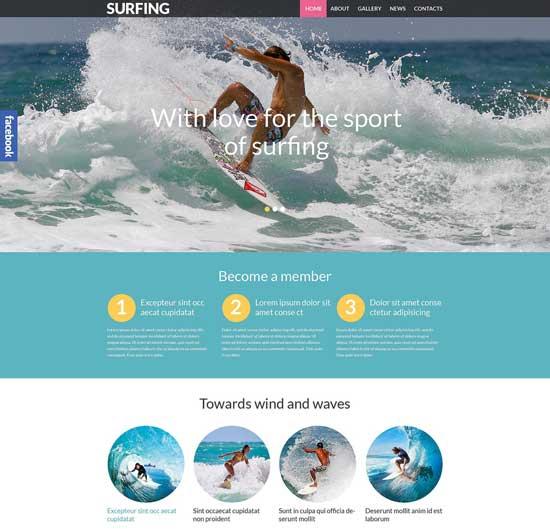 Surfing Responsive Sport WordPress Theme