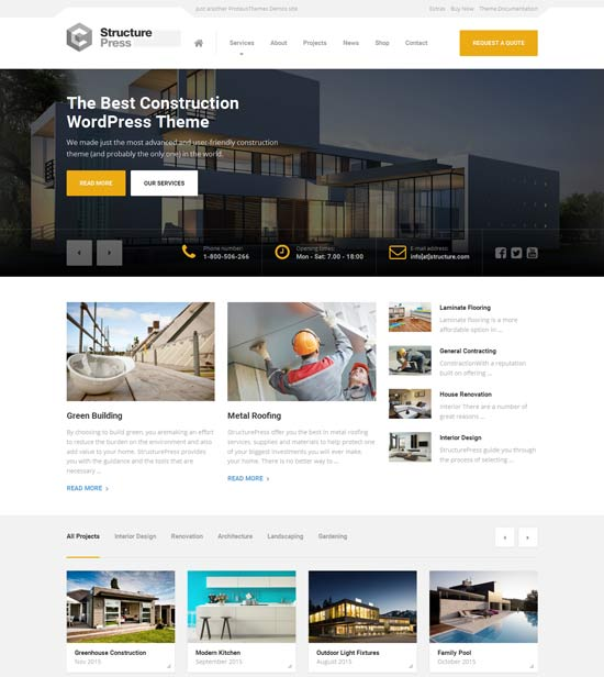 StructurePress – Construction Building WP Theme