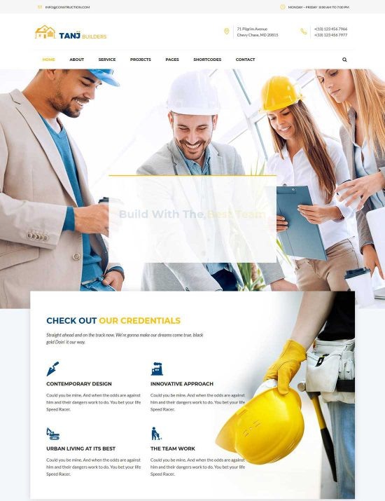 tanj construction theme