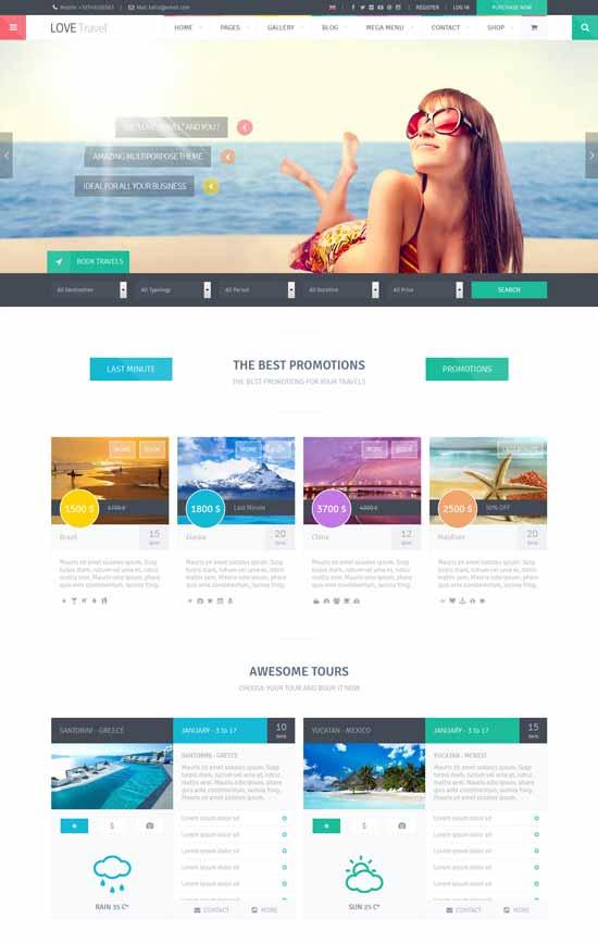 Love Travel WordPress travel theme