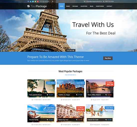 Tour Package - WordPress Travel Theme for travel company
