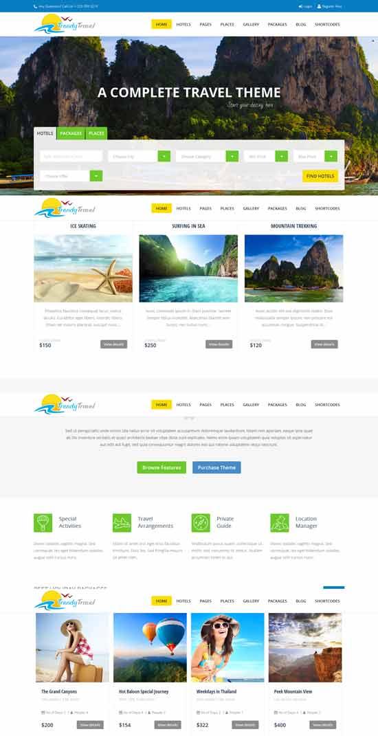 Trendy Multi Purpose Travel WordPress Theme