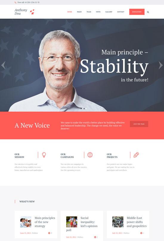 Unite Political Social WordPress Theme