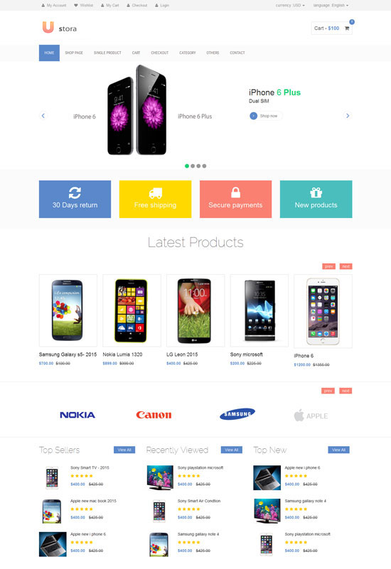ustora ecommerce html5 theme