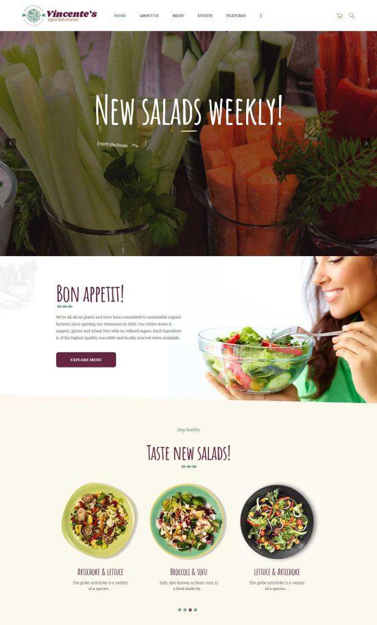 vincente organic food restaurant