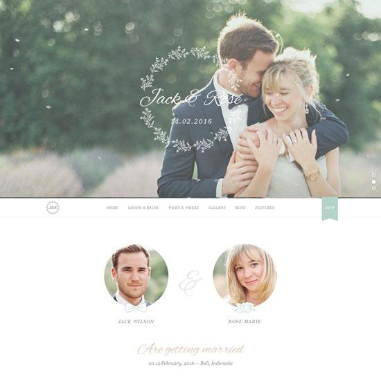 whimsical WordPress Wedding Themes