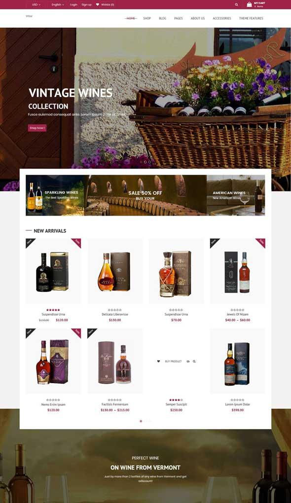 wibar winery woocommerce wordpress theme