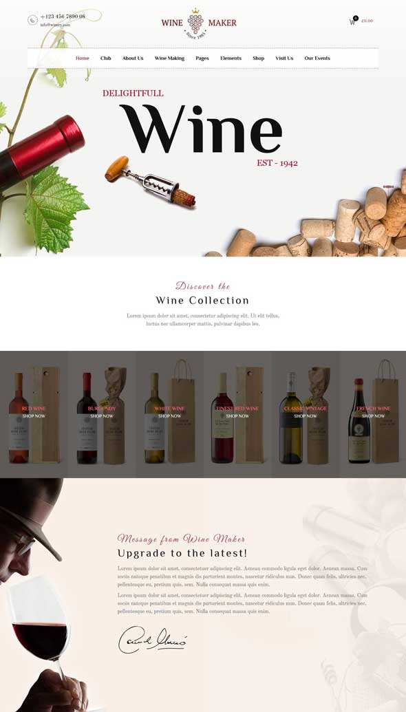 wine maker winery theme