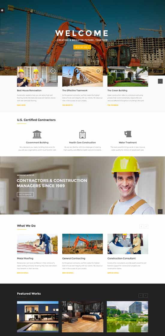 business construction WordPress theme