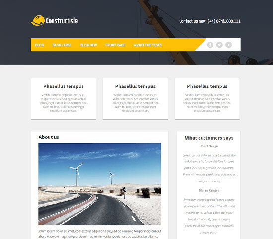 Constructisle free construction WordPress theme