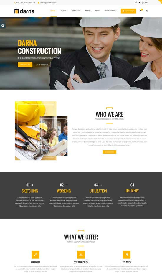 Darna responsive construction WordPress theme