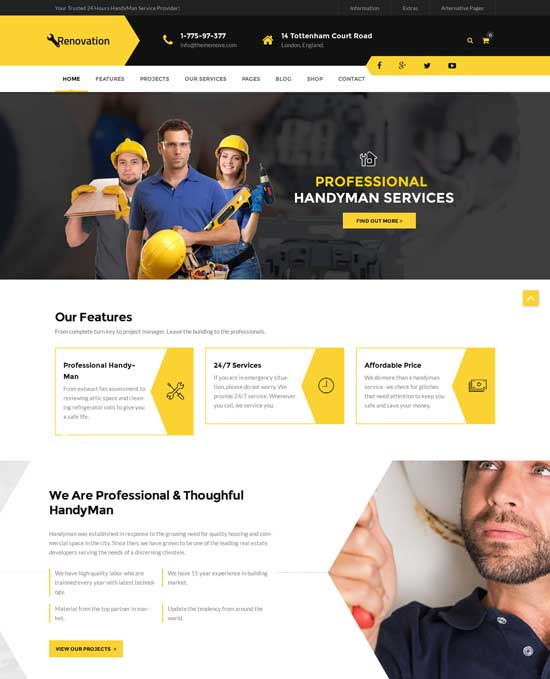 Renovation - Home Maintenance Repair Service Theme