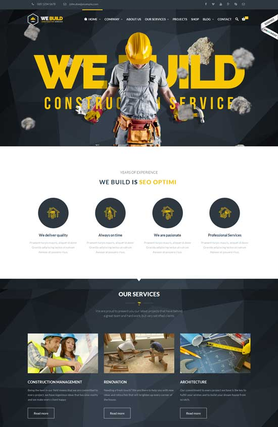 We Build - Construction Building WP Theme