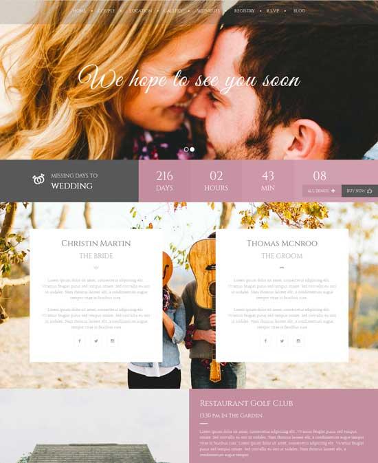 Wedding Couple - WordPress Wedding Themes
