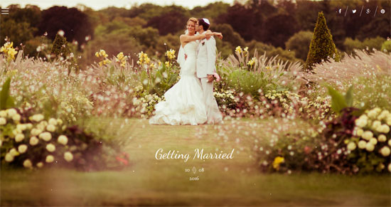 Best Day - Responsive One-Page Wedding Theme