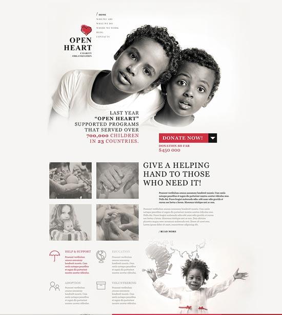 World of Charity WordPress Theme