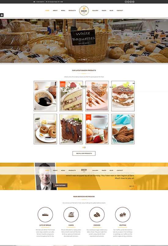 Bakery   WordPress Bakery, Cakery & Food Theme