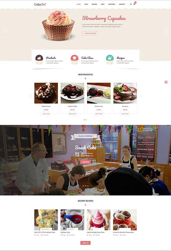 Cake WordPress Theme - Cake Art