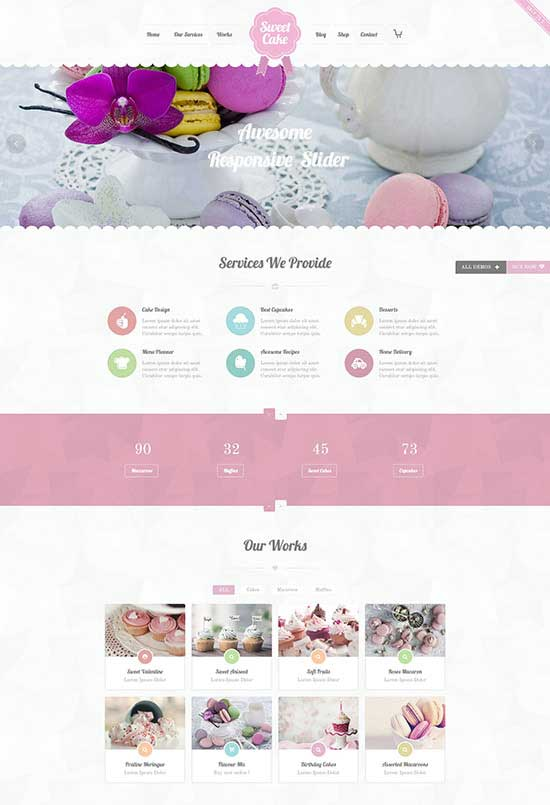 Sweet Cake - WP Theme For Bakery Yogurt Chocolate & Coffee Shop