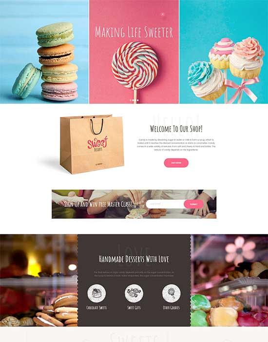 Sweet Dessert   Sweet Shop & Cafe