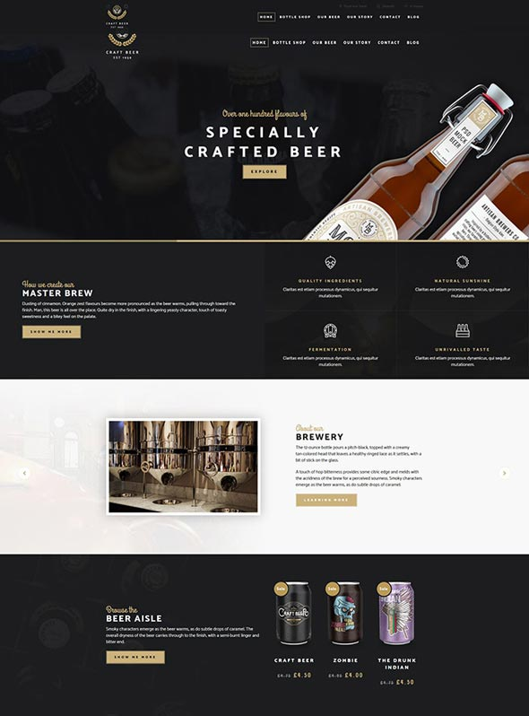Craft Beer Nation- WooCommerce Theme