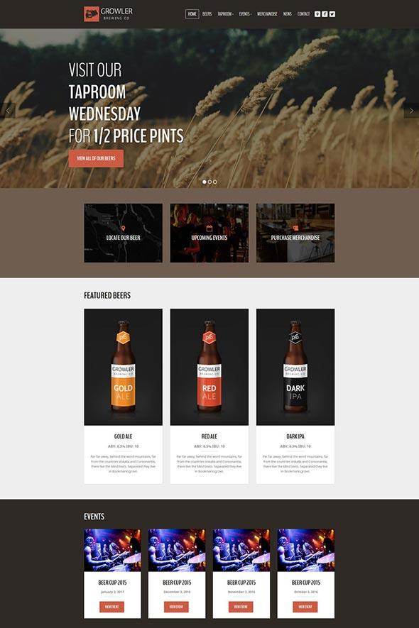 Growler - Brewery WordPress Theme