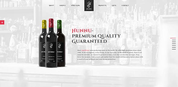 Hunnu - FullScreen WordPress Theme for Wine Lovers