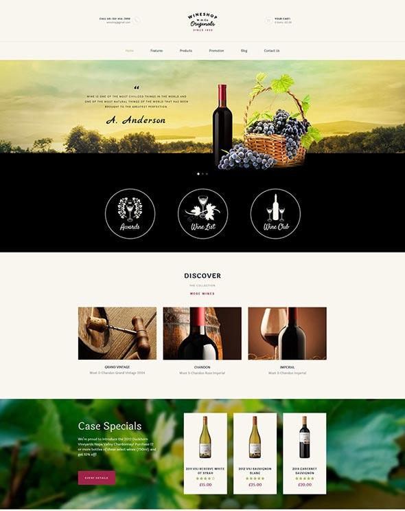 WineShop - Food & Wine Online Store