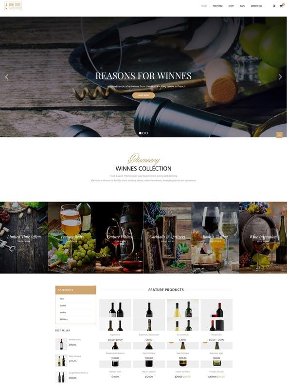 Winnes - Responsive Wine and Restaurant WooCommerce Theme