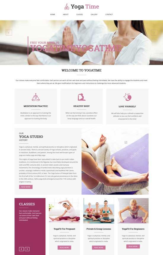 yoga time wordpress theme