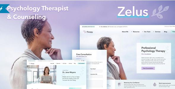 zelus psychology counseling wordpress theme